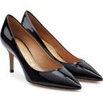 Salvatore Ferragamo Patent Leather Susi Kitten Heel Pumps