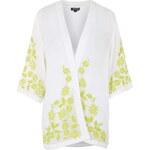 Topshop Embroidered Floral Kimono