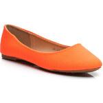 MANNIKA Oranžové dámské baleríny - L809OR / S3-103P