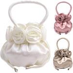 Lesara Handtasche mit Rosen-Applikationen - Weiß