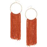 Topshop Tassel Drop Hoop Earrings