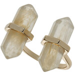 Topshop Double Semi Precious Stone Ring