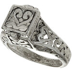 Topshop Silver Antique Hinged Box Ring