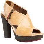 Clarks - Sandály na podpatku Pacey Gemstone - béžová, 39