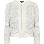 Topshop Sequin Embellished Jacket