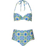 Topshop Tile Print High-Waisted Bikini Set