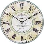 Zelené dřevěné hodiny Dakls New York