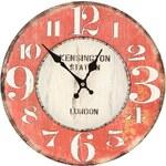 Dřevěné hodiny Dakls Kensington Station