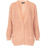 Topshop Knitted Textured Cardi