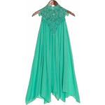 Dámské letní šaty s krajkou u krku - zelená - Uni (S-L)Glamorous by Glam