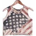 Glam Dámské crop top s americkou vlajkou - M/L