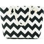 Art of Polo Dámská taška beach bag tote - geometric černo-bílá tr15136.5