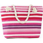 Art of Polo Dámská taška beach bag tote - stripes růžovo-bílá tr15136.10