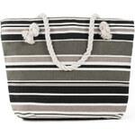 Art of Polo Dámská taška beach bag tote - stripes šedo-bílá tr15136.12