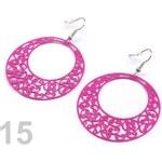 Náušnice kruhové s ornamenty Ø46mm (1 pár) - 15 růžovofialová Stoklasa