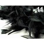 Boa - krůtí peří 60g délka 1,8m různé barvy (1 ks) - 11 Black Stoklasa