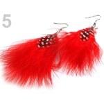 Stoklasa Náušnice peříčkové 10cm (1 pár) - 5 červená