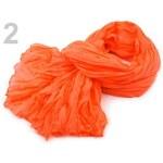 Stoklasa Mačkaná šála 90x175 cm neon (1 ks) - 2 Vibrant Orange neon