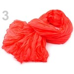 Stoklasa Mačkaná šála 90x175 cm neon (1 ks) - 3 červená výrazná neon