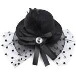 Fascinátor klobouček Ø13,5cm s mašlí (1 ks) - viz foto Stoklasa