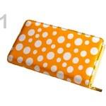 Dámská peněženka 10,5x20,5cm lesklá (1 ks) - 1 oranžová stř. Stoklasa