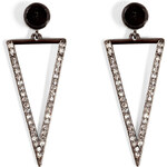Ileana Makri 18kt White Gold Bermuda Triangle Earrings with Diamonds