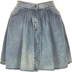 Topshop MOTO Indigo Check Skirt