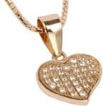 Beneto Bronzový náhrdelník se srdcem AGS91/45