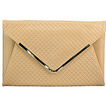 LightInTheBox Freyja Women's Cowhide Khaki Classic Clutch 13.5x8.5cm