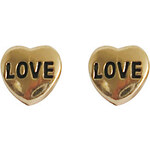 LightInTheBox Lovely Gold Plated with Gold Heart Earrings