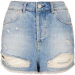 Topshop MOTO Bleach Rip Hotpants