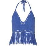 Topshop **Crochet Halterneck Crop Top by Glamorous