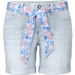 John Baner JEANSWEAR Short en jean extensible avec ceinture bleu femme - bonprix