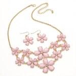 SET: Růžový náhrdelník a náušnice Ellie 29213
