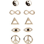 Monsoon 5er-Set Ohrstecker mit Symbolen
