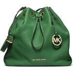 Zelená kožená kabelka vak Michael Kors Jules