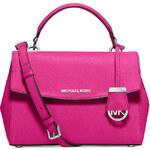 Růžová kožená kabelka Michael Kors Ava small saffiano