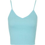 Topshop Ribbed Cropped Cami