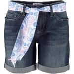 John Baner JEANSWEAR Strečové džínové šortky s páskem bonprix
