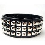 LightInTheBox Women's Punk Rivet Leather Silver Bracelet
