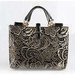 LightInTheBox Patent Elegant OL Gold Lace Tote
