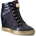 Sneakersy CARINII - B3133 Lakier Granat/Samuel 1680/2