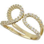Topshop Premium Double Loop Ring