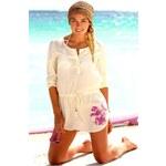Značková tunika PUMA, dámská plážová tunika levně XS režná (ecru)