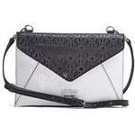 Guess Elegantní crossbody kabelka Bianco Nero Envelope Cross-body černá multi