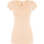 Tally Weijl Pastel Orange Basic V-Neck Top