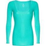 Tally Weijl Green Basic Long Sleeve Top