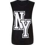 "Tally Weijl Black ""NY"" Print Top"