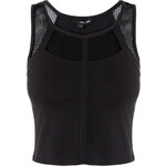 Tally Weijl Black Mesh Detail Crop Top