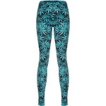 "Tally Weijl Black & Green ""Hash"" Print Leggings"